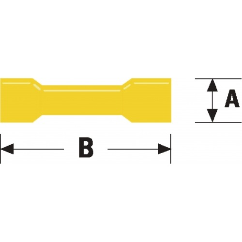 Conector Fast On 6.8 mm Hembra PVC Amarillo
