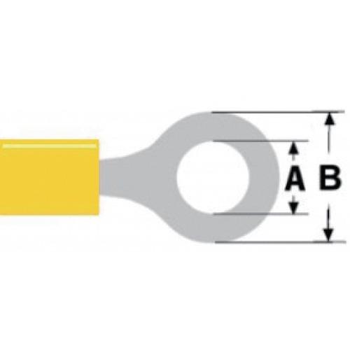 Conector Fast On 8.4 mm Hembra PVC Amarillo