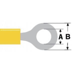 Conector Fast On 6.4 mm Hembra PVC Amarillo