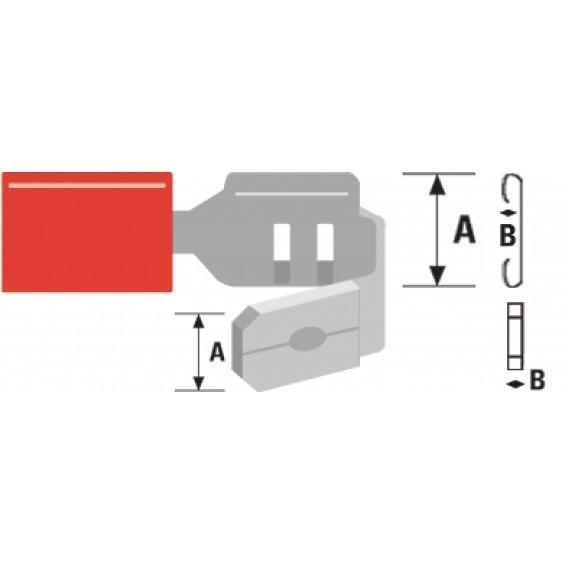 Conector Fast On 6.3 mm Macho + Hembra PVC Rojo