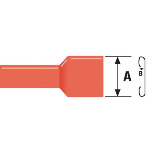 Conector Fast On 6.3 mm Hembra PVC Rojo