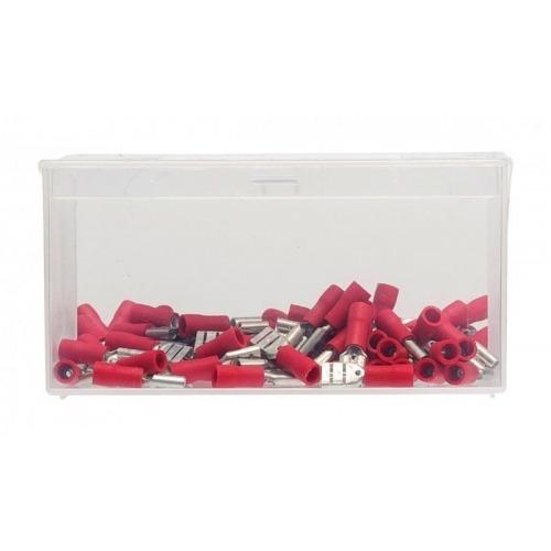 Conector Fast On 4.8 mm Hembra PVC Rojo