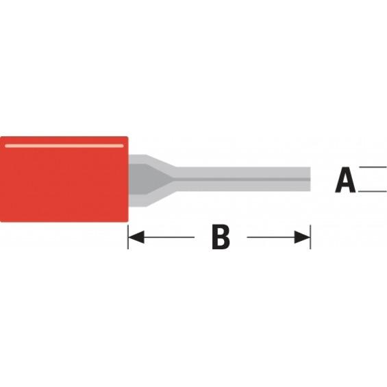 Conector Fast On 1.9 mm Macho PVC Rojo