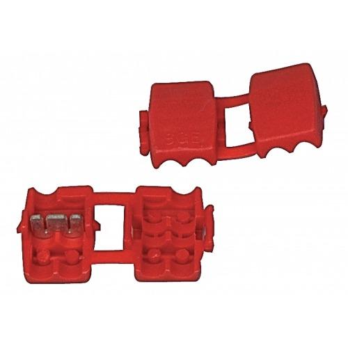 Conector a presión rojo