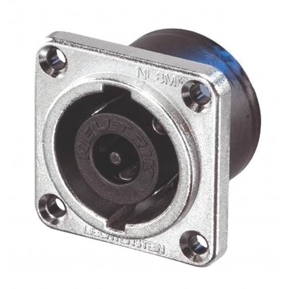 Conector Speaker Hembra Metal Plata