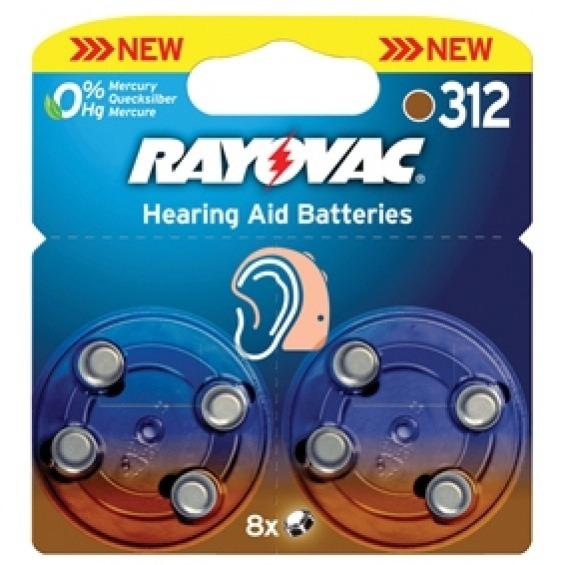 Pilas para audífonos 1.4 V 160 mAh 8 pcs