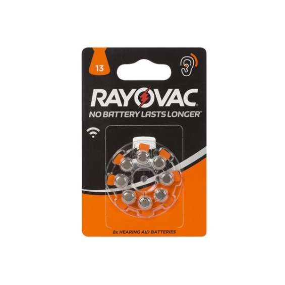 ZINC-AIRE RAYOVAC 1.45V-290mAh 4606.745.418 (8 uds./blister)