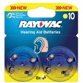 Pilas para audífono 1.4 V 90 mAh 8 pcs