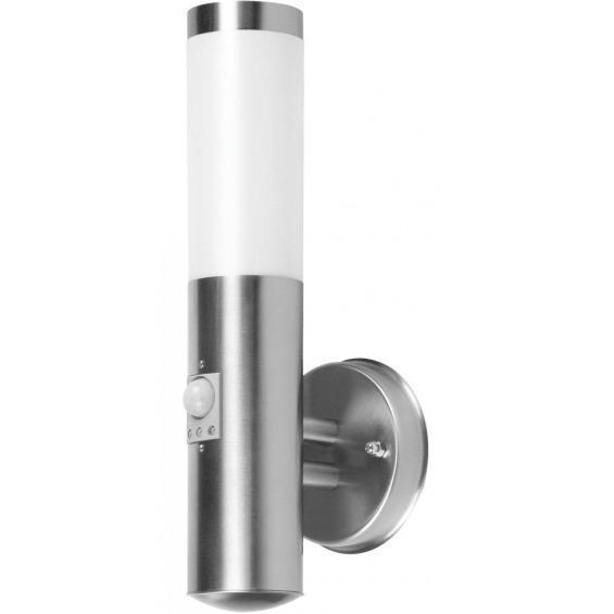 Aplique con detector de movimiento en acero inoxidable pulido