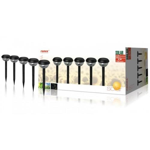 Lámpara LED solar para jardín, juego de 5 unidades