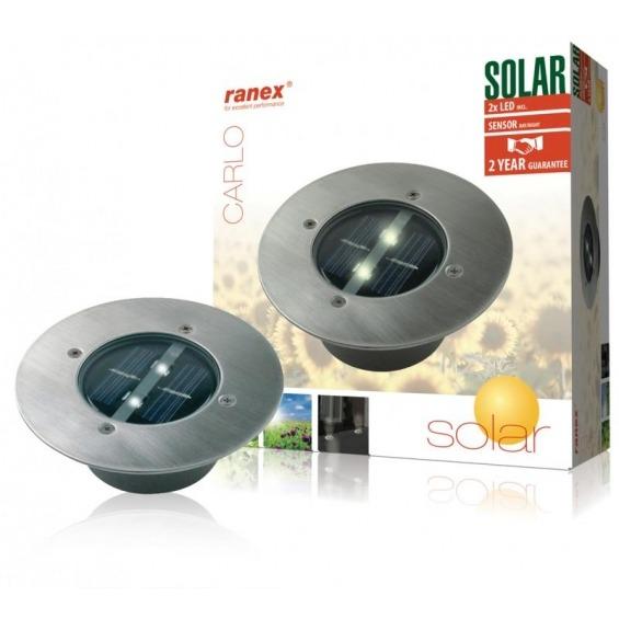Foco LED solar redondo para el suelo