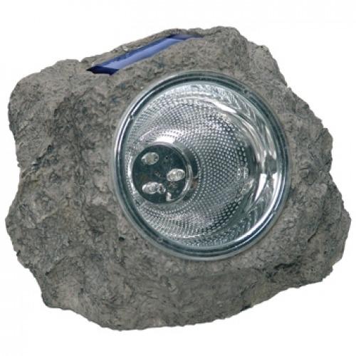 Luz LED solar en forma de roca