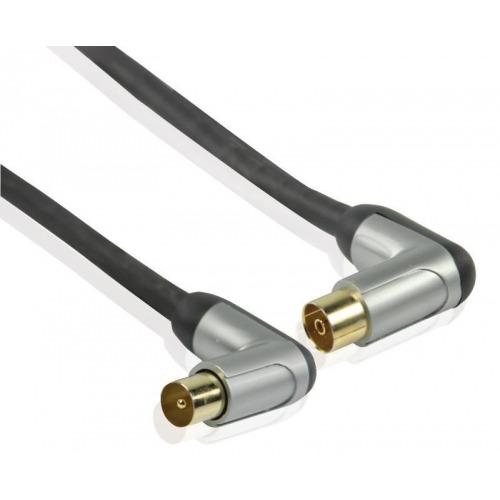 Cable de interconexión de alto rendimiento de antena coaxial en ángulo de 5.00 m