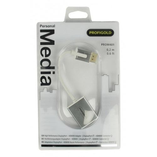 Adaptador DisplayPort - HDMI® de Alto Rendimiento de 0.20 m