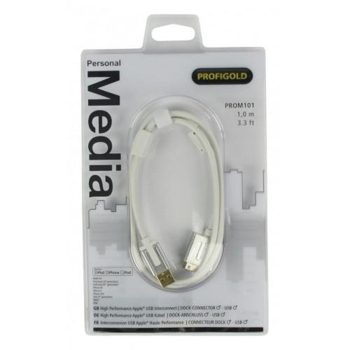 Interconector USB Apple® de Alto Rendimiento de 1.00 m