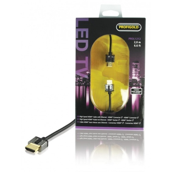 High Speed HDMI Cable with Ethernet HDMI Connector - HDMI Connector 1.00 m black