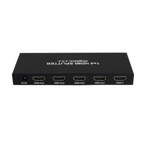 SPLITTER HDMI 2.0 1X4 4K€60Hz UHD, 18GB, HDR, EDID