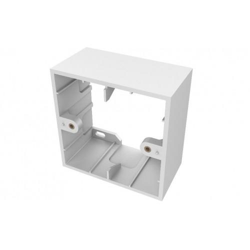 Caja de superficie blanca de dos vahías 86 x 86 x 45 mm