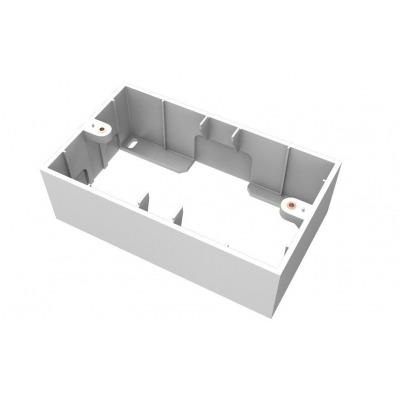 Caja De Superficie Blanca De Dos Vahias 146 X 86 X 45 Mm