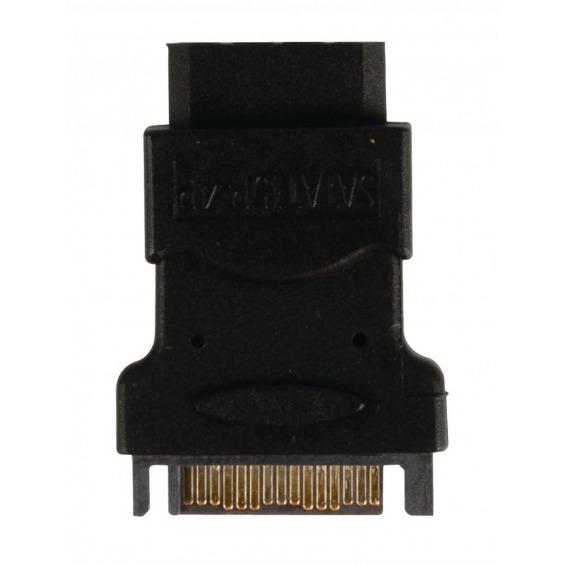Este cable adaptador es apto para convertir una conexión Molex en una conexión SATA de 15 pines.