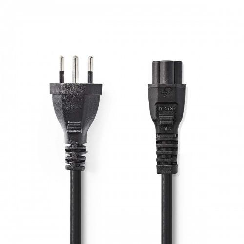 Cable de alimentación   Conector Tipo J (Suiza) - IEC-320-C5   2,0 m   Negro