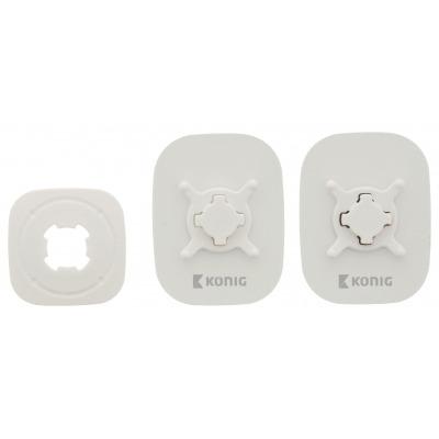 Soporte Adhesivo Blanco De Coche Para Smartphone Con Rotación De 360°