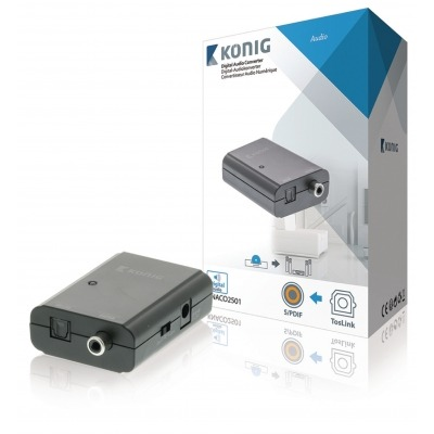Convertidor De Audio Digital Toslink Hembra- S/pdif Hembra, Gris Oscuro