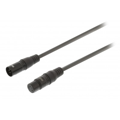 Cable Xlr Digital Macho De 5 Pines - Xlr Hembra De 5 Pines De 1,0 M Gris Oscuro