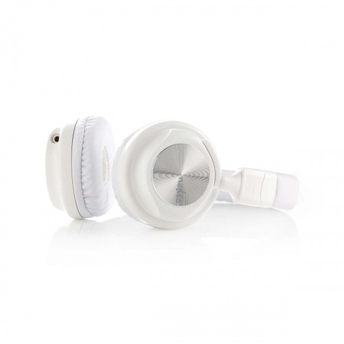Auriculares con Cable | De diadema | Plegable | Cable Extraíble de 1,2 m | Blanco