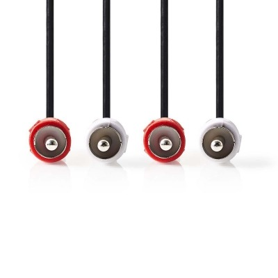 Cable De Audio Estéreo   2X Rca Macho - 2X Rca Macho   1,0 M   Negro