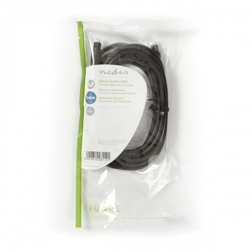 Cable de Audio Óptico | TosLink Macho - TosLink Macho | 3,0 m | Negro