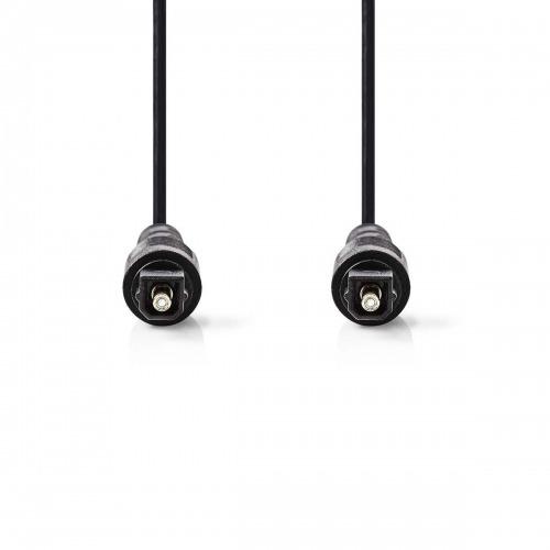 Cable de Audio Óptico | TosLink Macho - TosLink Macho | 1,0 m | Negro