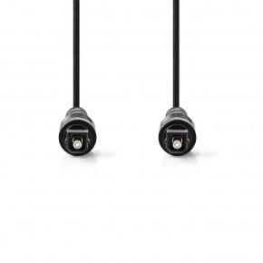 Cable de Audio Óptico | TosLink Macho - TosLink Macho | 2,0 m | Negro
