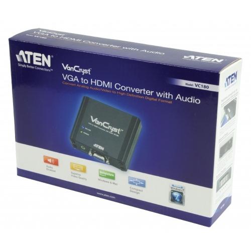 Convertidor de HDMI VGA hembra - Salida HDMI