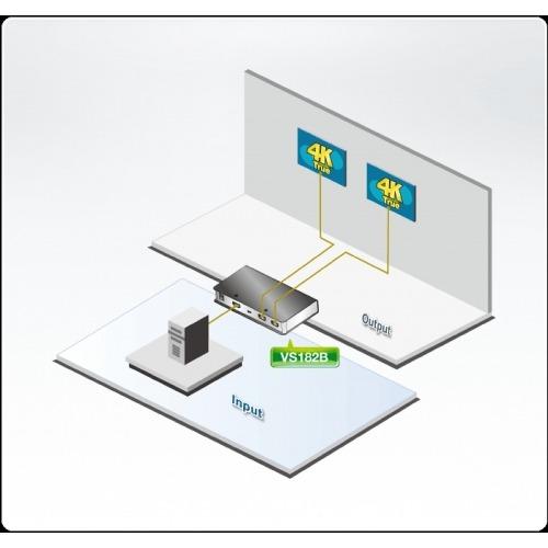 2-Port Splitter HDMI Negro