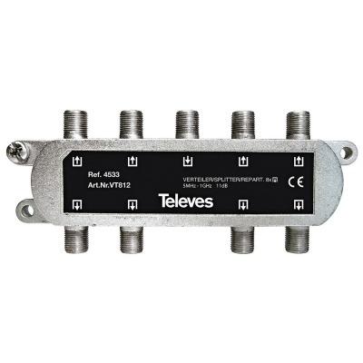 Splitter Catv 11 Db / 5-1000 Mhz - 8 Salidas