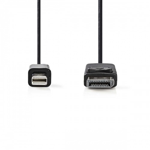 Cable Mini DisplayPort-DisplayPort | Mini DisplayPort Macho - DisplayPort Macho | 1,0 m | Negro