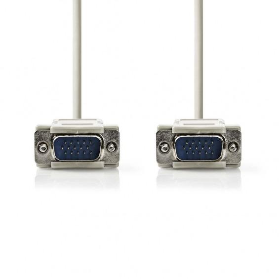 Cable VGA | VGA Macho - VGA Macho | 2,0 m | Color Marfil