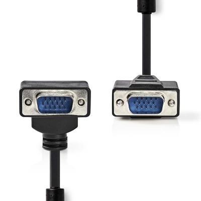 Cable Vga | Vga Macho - Vga Macho En Ángulo | 2,0 M | Negro
