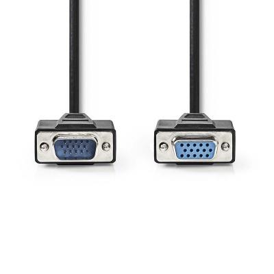 Cable Vga | Vga Macho - Vga Hembra | 2,0 M | Negro