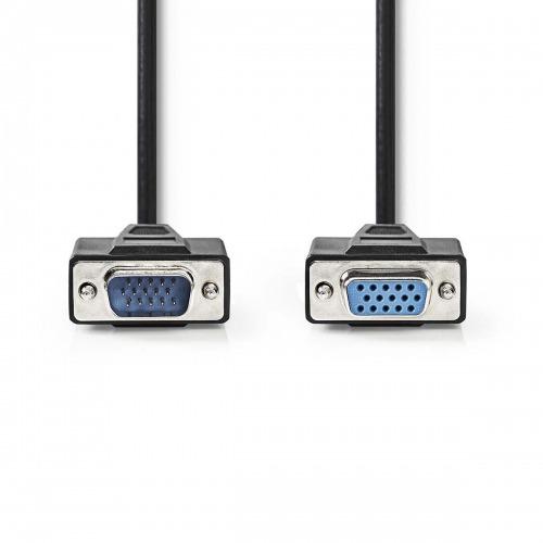 Cable VGA   VGA Macho - VGA Hembra   5,0 m   Negro