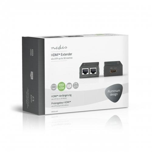 Alargador HDMI™ CAT5   Hasta 30,0 m - 1 entrada HDMI™ + 2x RJ45 hembra   1 salida HDMI™ + 2x RJ45 hembra