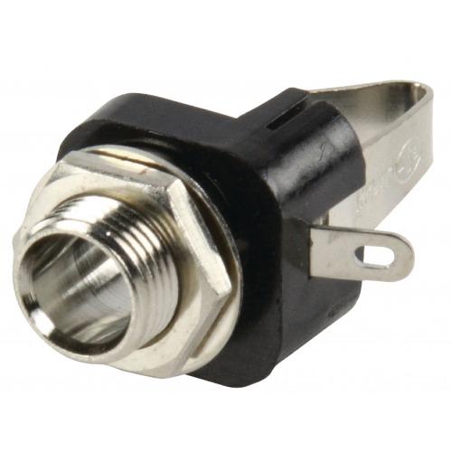 Conector Estéreo 6.35 mm Hembra Metal Plata
