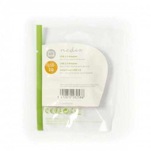 Adaptador USB 2.0 | Mini 5 Pines Macho - A Hembra | Negro