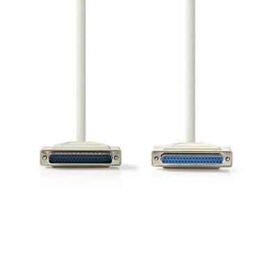 Cable Rs232 | D-Sub De 25 Pines Macho - D-Sub De 25 Pines Hembra | 2,0 M | Color Marfil