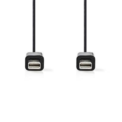 Cable Mini Displayport | Mini Displayport Macho - Mini Displayport Macho | 1,0 M | Negro