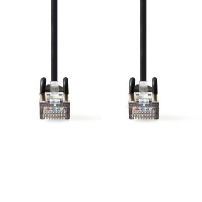 Cable De Red Cat5E Sf/utp | Rj45 Macho - Rj45 Macho | 0,25 M | Negro