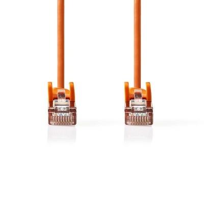 Cable De Red Cat5E Sf/utp | Rj45 Macho - Rj45 Macho | 0,25 M | Naranja