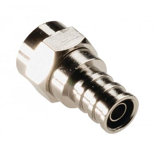 Conector F hembra resistente al agua de 5,50mm, 2 uds. en metal
