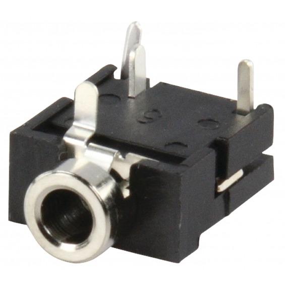 Conector Estéreo 3.5 mm Hembra PVC Negro